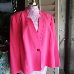 Nipon Boutique 22W Pink Coral Jacket New